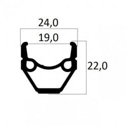 ABRONCS 26X1,75 MTB DUPLAF.BER.MT240  FEKETE CSISZ