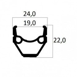 ABRONCS 24X1.75 MT-240 FEKETE CSISZOLT DUPLAFALU