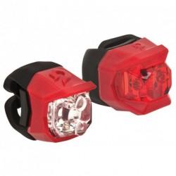Lámpa készlet CLICK piros, első+hátsó