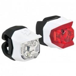 Lámpa készlet CLICK fehér, első+hátsó