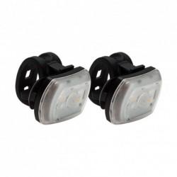Lámpa készlet 2'FER USB, 2 db első és/vagy hátsó, fekete