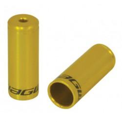Bowdenház kupak, 5mm fék, arany/ezüst/piros 3x10db