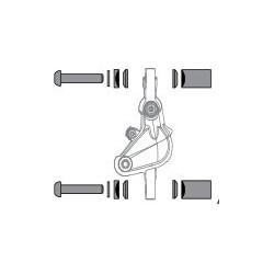 Fék adapter távtartó készlet, 20S,180/160, t.fék rögz.csavar