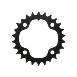 Hajtómű lánckerék 26T fekete, MTB alu,80 2x10