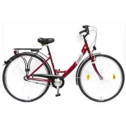 Csepel Budapest A női városi kerékpár (piros)  28/17 N3