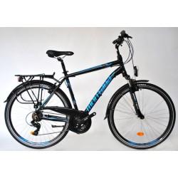 "Montana Trekking Alu férfi túra kerékpár 21SP Fekete-Kék 19"""