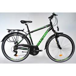 "Montana Trekking Alu férfi túra kerékpár 21SP Fekete-Zöld 19"""