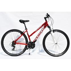 "Montana Alu női Cross kerékpár 21SP Piros 17"""