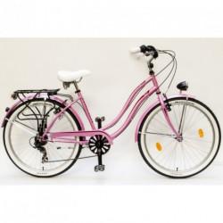 Csepel Cruiser NEO női városi kerékpár (rózsaszín)  26/18